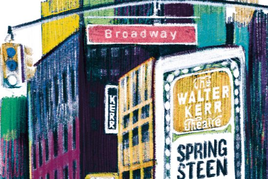 A Broadway (e poi in camerino) con Springsteen