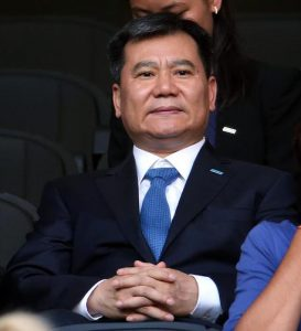 Zhang Jindong, founder and the chairman of the Suning Commerce Group, attends the Italian Serie A soccer match FC Inter vs US Palermo at Giuseppe Meazza stadium in Milan, Italy, 28 August 2016. ANSA/MATTEO BAZZI