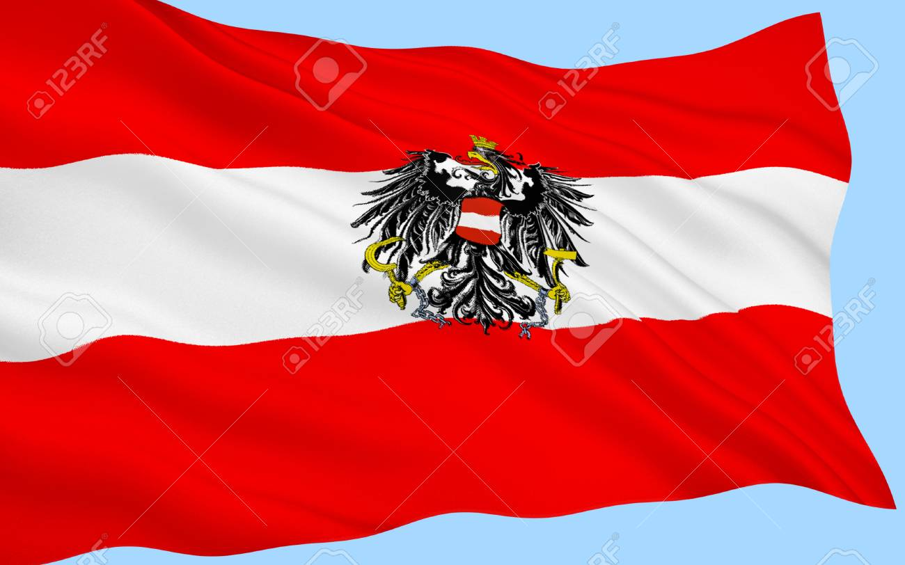 </span></figure> Flag of Austria – The Austrian triband is one of the oldest flag in use dating from 1230.