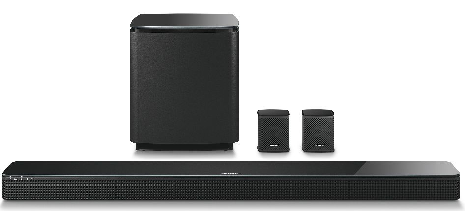 </span></figure></a> <em><strong>La sound bar SoundTouch 300 di Bose con i moduli opzionali per i bassi Acoustimass 300 e diffusori surround Virtually Invisible 300<br></strong></em>