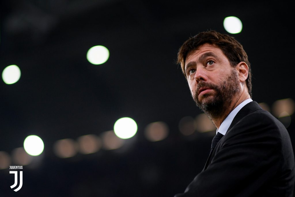 TURIN, ITALY - OCTOBER 18:  Andrea Agnelli during the UEFA Champions League group D match between Juventus and Sporting CP at Juventus Stadium on October 18, 2017 in Turin, Italy.  (Photo by Daniele Badolato - Juventus FC/Juventus FC via Getty Images)